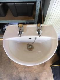 Hand basin and pedestal