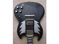 Burny SG 90 1991 Rare Artist Series Aura Pie Gibson SG Beater