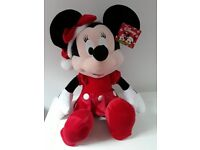 BRAND NEW LARGE MINNIE MOUSE CHRISTMAS SOFT TOY DOLL