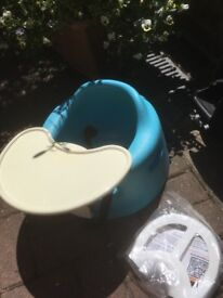 Blue Bumbo seat - mint condition