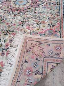 Hand woven silk touch Persian rug