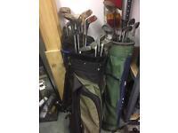 3 golf club & bag sets £15 each bargain!