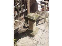 Genuine saddle stone garden ornament