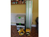 *Brand New* Festool Plunge Saw Midi Extractor 110v Guide Rails Transformer and Extension Reel