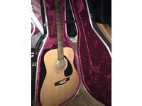 Yamaha guitar and case