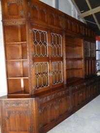 Old Charm Solid Oak Bureau Display Cabinets