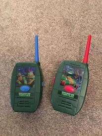 Turtles walkie talkies