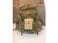 PATROL 3 DAY PACK 30L SMALL BERGEN BACKPACK UK ARMY WOODLAND SIDE POUCHES
