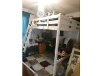 Double IKEA White Loft Bed