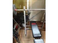 ProPower weights and exercise bench.