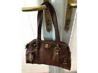 Fossil Tan leather handbag