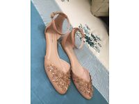 Brand New Pointed Flats With 3D Embellishments Size 7 NEW ELEGANT WEDDING SUMMER
