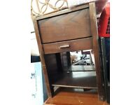 Cabinet - vintage wooden phone table
