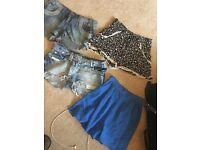 4 pairs shorts size 10, s/m, river island