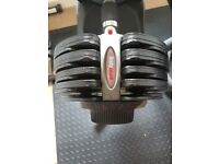 BodyMax adjustable dumbells and stand. 5kg - 37.5kg.