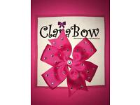ClaraBow Hot Pink Bow with Diamanté Detailing
