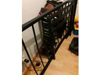 Free: Single black metal bed frame