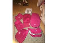 Huge bugaboo cameleon pink bundle footmuff hood apron breezy etc