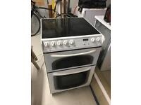Electric freestanding double oven and hob