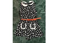 Black/white playsuit Size 8