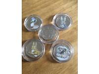Betrix potter rare 50p coin collection full set