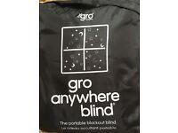 Gro anywhere blackout blind - never used