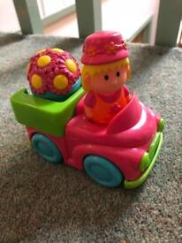 Happyland village set with extra figures (motorcycle and motorcyclist, telephone box etc)
