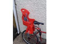 CHILD BICYCLE SEAT - Bargain! (Bike not included)