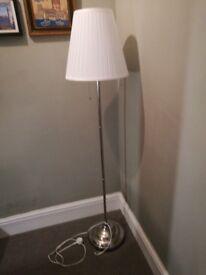 As new Ikea Arstid floor lamp silver