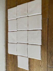 "13 x Pilkington taupe colour 4"" tiles"