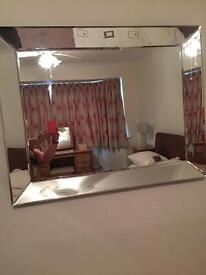 large heavy glass mirror