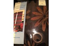 Chocolate brown coloured curtains