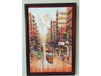 Oil painting of Hong Kong