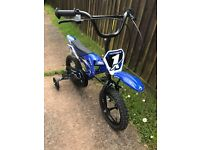 "12"" boys motorbike push bike"