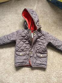 Boys 1 year to 1 1/2 years quilted jacket
