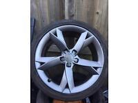 "Audi A5 19"" genuine Y spoke alloys tyres x4"