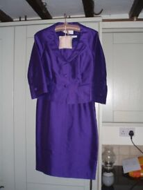 LK Bennet ladies dress and matching 3/4 length sleeve jacket