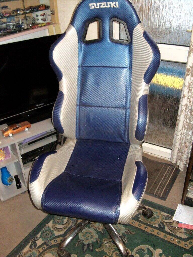 Suzuki Rally Car Theme Computer / Gaming Chair  Must Be Seen  | in  Fforestfach, Swansea | Gumtree