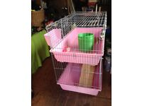 Two tier rabbit or small pet hutch