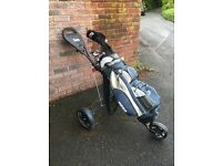 Full set of Hippo golf clubs bag and Trolley