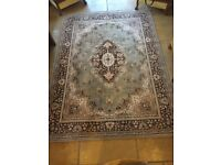 RUG for sale Green, Brown and Cream 2.7x 2.0 metres John Lewis