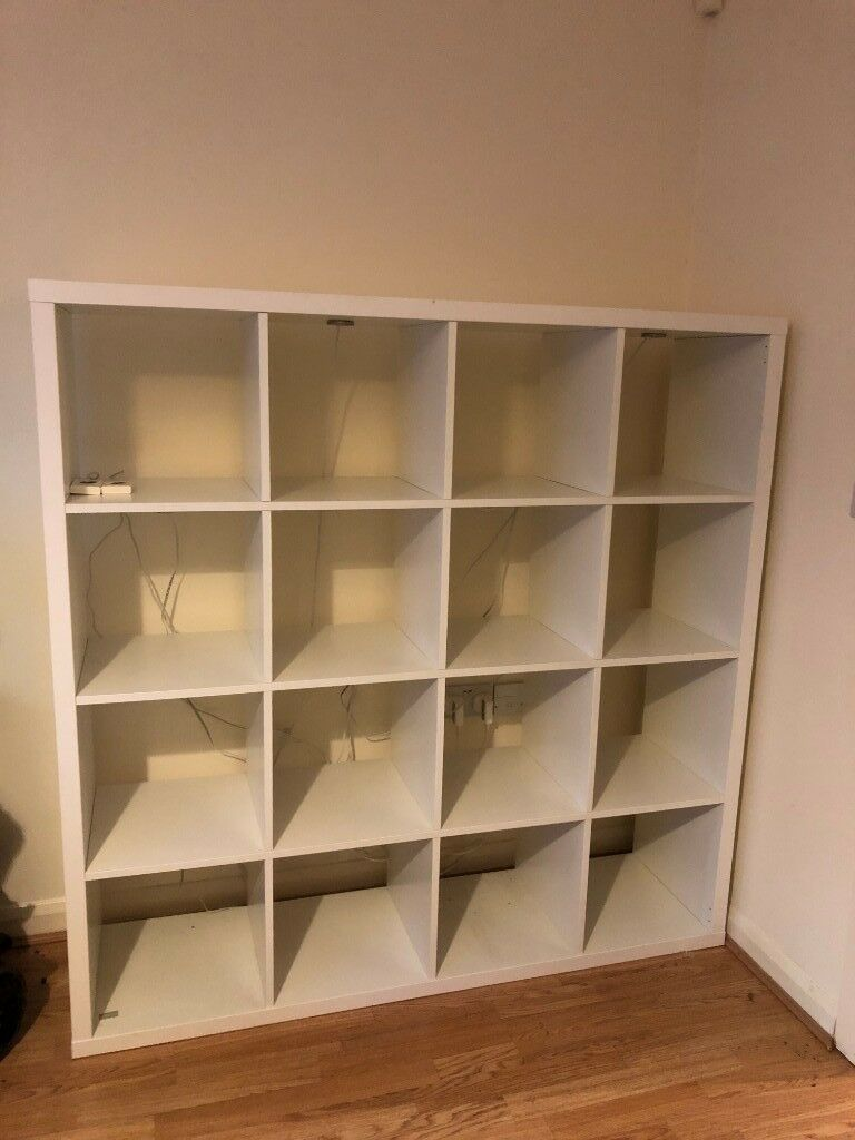 best website fdf8f 6a0ee IKEA KALLAX Large Shelving Unit (White) with LEDBERG LED Colour Changing  Spot Lights   in Bulwell, Nottinghamshire   Gumtree