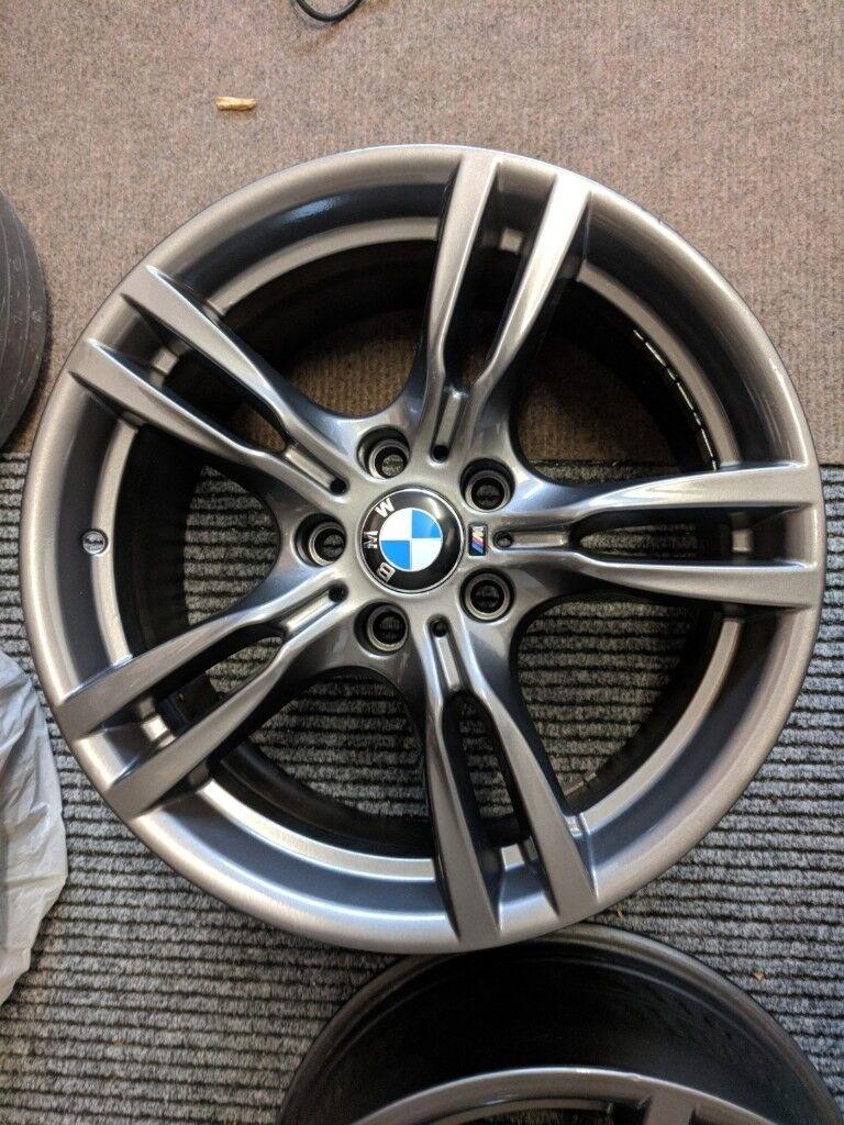 4 x bmw 18 inch alloy wheels twin spoke 400m (m sport wheels