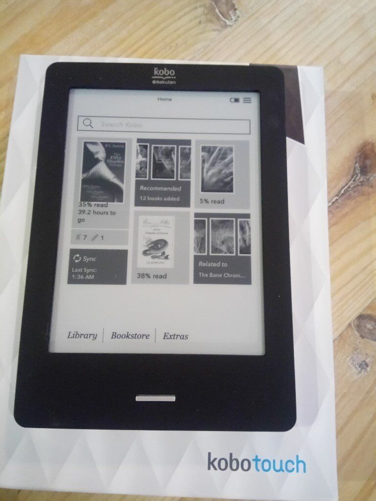 Kobo Touch edition (Black) e-reader - Perfect working order.