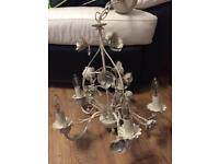 Ceiling beige cream chandelier large