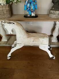 Stunning Vintage French Rocking Horse