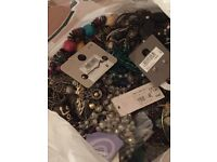 Lot of costume jewellery - partially sorted. Some NWT