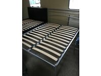 king size (5ft) silver bed frame