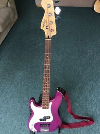 Squire STD left handed Bass & practice amp