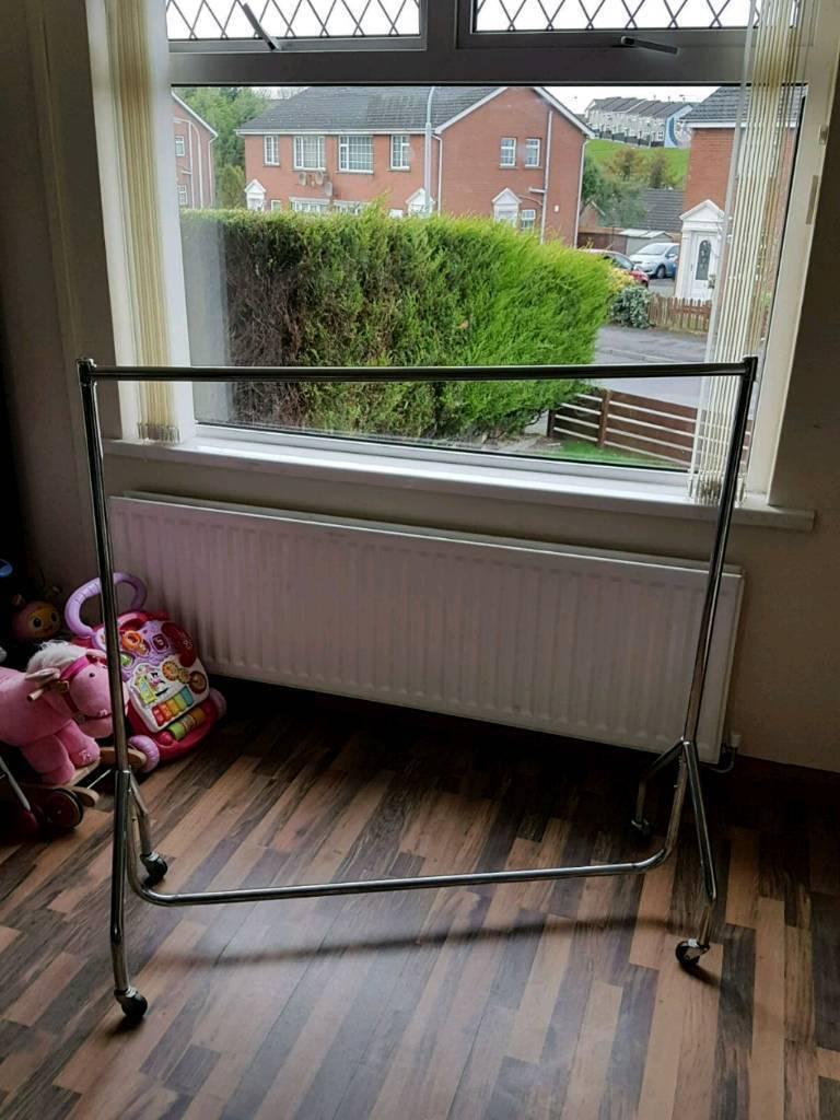 metal clothes rail
